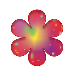 single red flower vector image