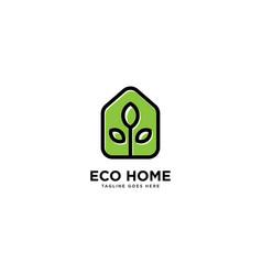 Smart home logo simple line logo template vector
