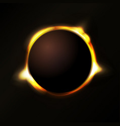 solar eclipse background vector image