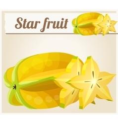 Star fruit Carambola Cartoon icon vector