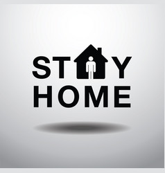 Stay home social distancing concept sign icon vector