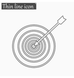 Successful shoot Darts target aim icon vector