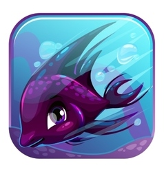 Swimming black fish vector