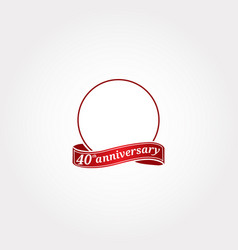 Template logo 40th anniversary with a circle and vector