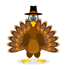 thanksgiving turkey bird stock vector image