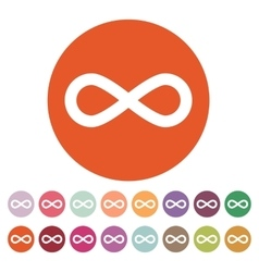 The infinity icon Infinity symbol Flat vector image