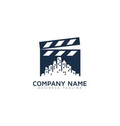 town video logo icon design vector image