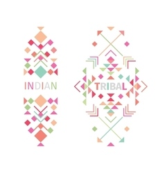 Tribal logo set on white background vector image