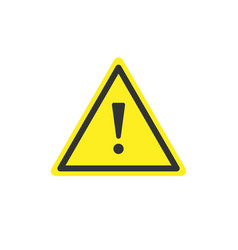 warning sign and caution concept vector image