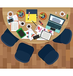 Workplace of business meeting vector image vector image
