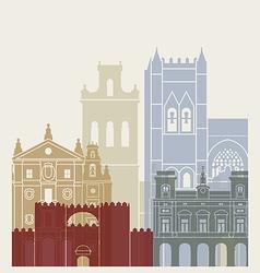 Avila skyline poster vector image vector image