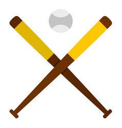 baseball bats and baseball icon isolated vector image