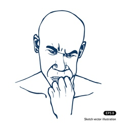 Man thinking about a problem vector image vector image