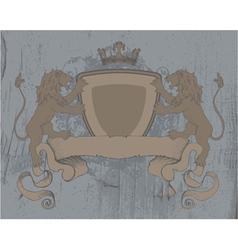 Vintage emblem on grunge background vector