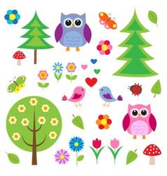 Birdstress and owls vector image