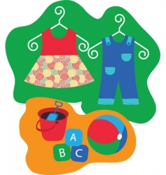 childrens clothing vector image vector image