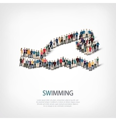 people sports swimming vector image vector image