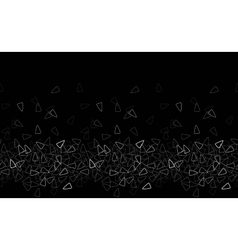 Seamless triangle pattern Black monochrome vector image vector image