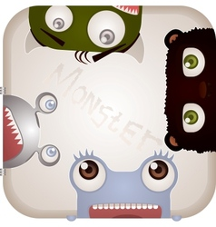 Set of Monsters vector image