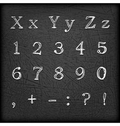 Sketched Hand drawn alphabet X--01 vector image vector image