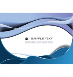 wavy background vector image vector image