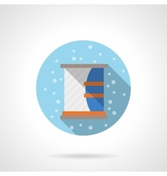 Bathroom furniture round flat color icon vector image