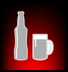beer bottle style vector image