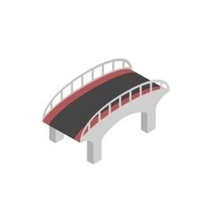 Bridge with steel railings icon isometric 3d style vector image