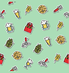 colored brewing pattern vector image