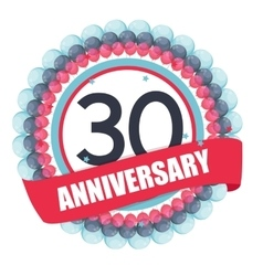 Cute Template 30 Years Anniversary with Balloons vector image