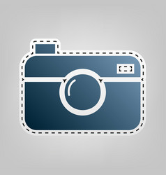 digital photo camera sign blue icon with vector image