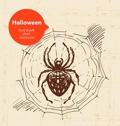 Hand drawn Halloween background vector image vector image