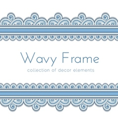 Wave border frame vector image vector image