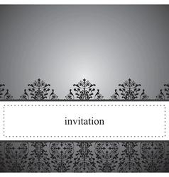 Classic elegant dark card or invitation vector