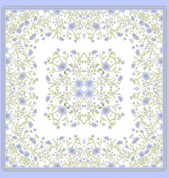 scarf print design delicate cute flowers square vector image