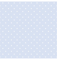 Seamless blue pattern with white polka dots vector image