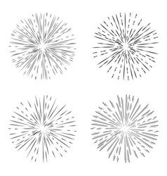 star burst set element vector image vector image