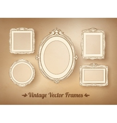 Vintage baroque frames set vector image vector image