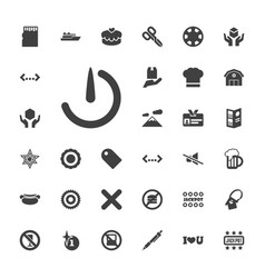 33 label icons vector image