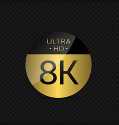 8k ultra hd icon vector
