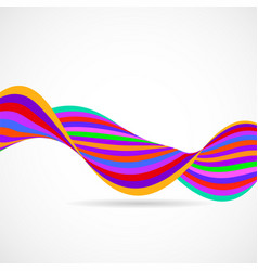 abstract colorful wave of lines multicolored vector image