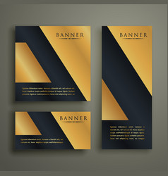 abstract geometric premium golden banner design vector image