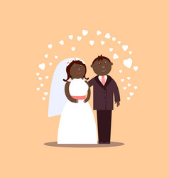 african american loving couple vector image