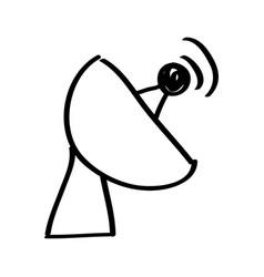 antena satellite isolated icon vector image