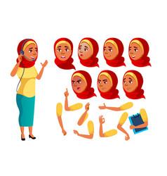 Arab muslim teen girl teenager funny vector