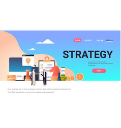 arabic business people brainstorming strategy vector image