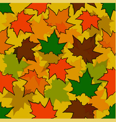 autumn seamless background maple leaves nature vector image
