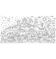 banner for camping vector image