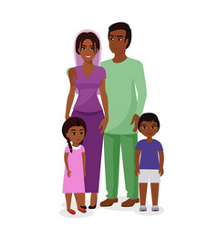 Beautiful indian family vector