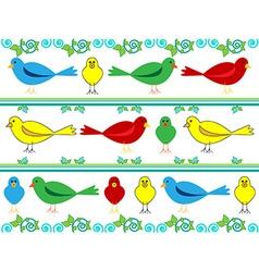 Bird wallpaper vector image